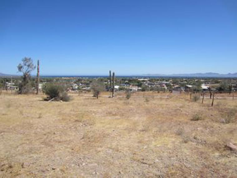 Undeveloped Loreto lot with view of town and ocean